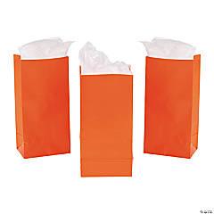 Paper Mini Orange Treat Bags