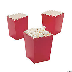 Paper Mini Red Popcorn Boxes