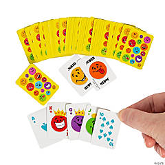 Paper Mini Smile Face Playing Cards
