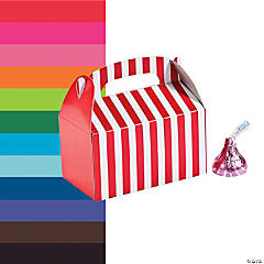 Paper Mini Striped Treat Boxes
