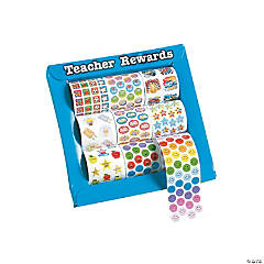 Paper Mini Teacher reward Rolls of Stickers Assortment