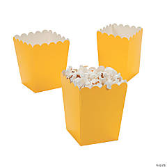 Paper Mini Yellow Popcorn Boxes