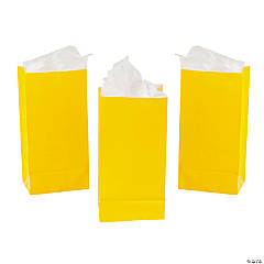 Paper Mini Yellow Treat Bags