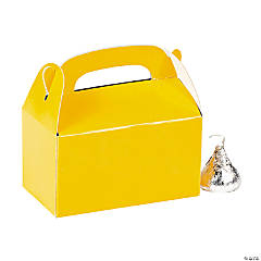 Paper Mini Yellow Treat Boxes