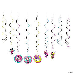 Paper Minnie Bowtique Hanging Swirl Decorations Value Pack