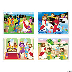 Paper Miracle of Jesus Mini Sticker Scenes