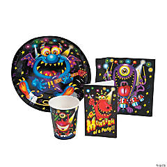Paper Monster Bash Tableware/Invites