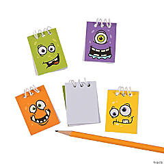 Paper Monster Face Mini Spiral Notepads