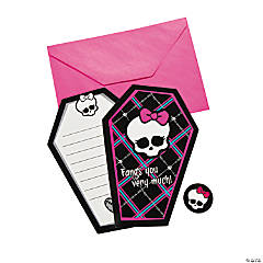 Paper Monster High™ Thank You Cards