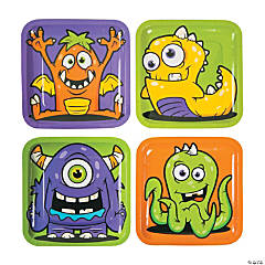 Paper Monster Party Dinner Plates
