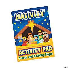 Paper Nativity Activity Books with Stickers