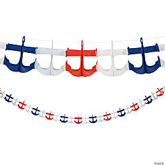 Paper Nautical Anchor Garland