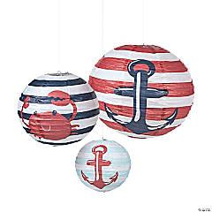 Paper Nautical Baby Shower Lanterns