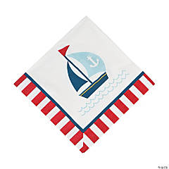 Paper Nautical Baby Shower Luncheon Napkins
