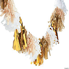 Paper Neutral Tassel Garland