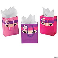 Paper Ninja Girl Small Gift Bags
