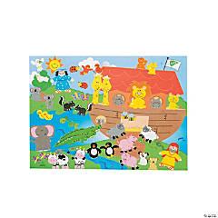 Paper Noah's Ark Sticker Scenes
