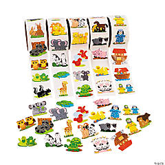 Paper Noah's Ark Rolls of Stickers