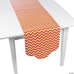 Paper Orange Chevron & Polka Dot Table Runner