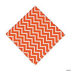 Paper Orange Chevron Luncheon Napkins