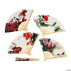 Paper Oriental Fan Assortment