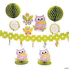 Paper Owl Baby Shower Decorating Kit