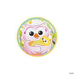 Paper Owl Baby Shower Dessert Plates
