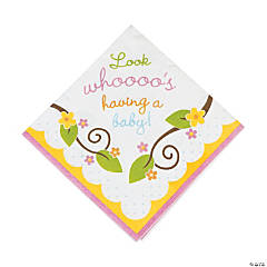 Paper Owl Baby Shower Luncheon Napkins