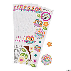 Paper Owl Birthday Stickers