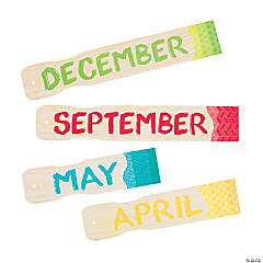 Paper Painted Palette™ Months of the Year Bulletin Board Set