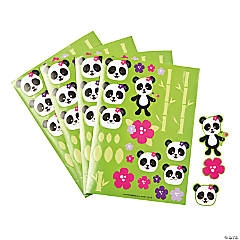 Paper Panda Party Sticker Sheets