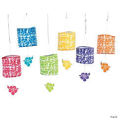 Paper Paradise Party Hanging Lanterns