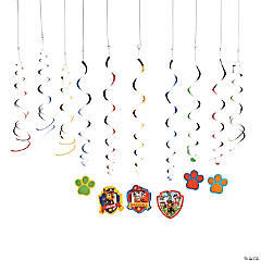 Paper Paw Patrol Hanging Swirl Decorations Value Pack