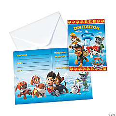 Paper Paw Patrol Invitations