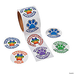 Paper Paw Print Stickers