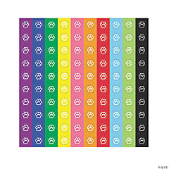 Paper Paw Prints Mini Stickers