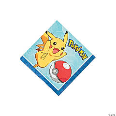 Paper Pikachu & Friends Beverage Napkins