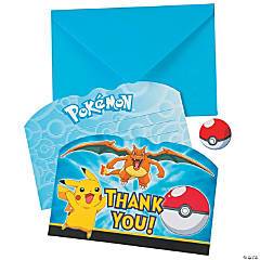 Paper Pikachu & Friends Thank You Cards