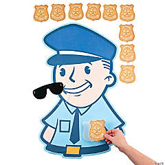 Paper Pin the Badge on the Policeman Game