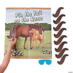"Paper ""Pin the Tail on the Horse"" Game"