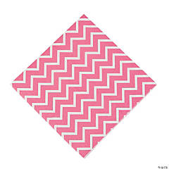 Paper Pink Chevron Luncheon Napkins