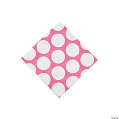 Paper Pink Large Polka Dot Beverage Napkins