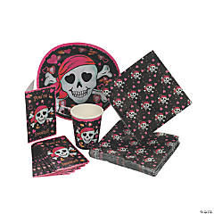 Paper Pink Pirate Girl Tableware
