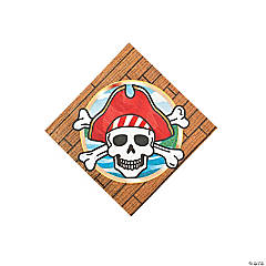 Paper Pirate Party Beverage Napkins