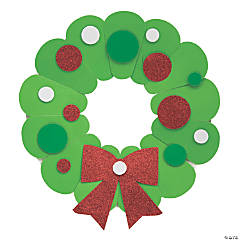 Paper Plate Christmas Wreath Craft Kit