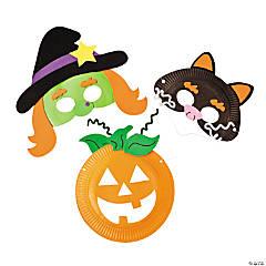 Paper Plate Halloween Mask Craft Kit
