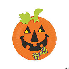 Paper Plate Pumpkin Craft Kit
