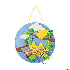 Paper Plate Spring Bird's Nest Craft Kit