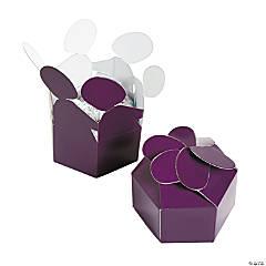 Paper Plum Flower Favor Boxes