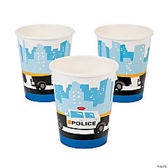 Paper Police Party Cups